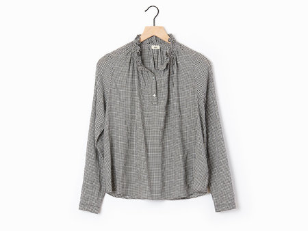 Warm Ines Gingham Blouse