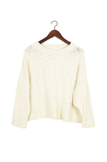 Hackwith Design House Cropped Mockneck Sweater - Cream