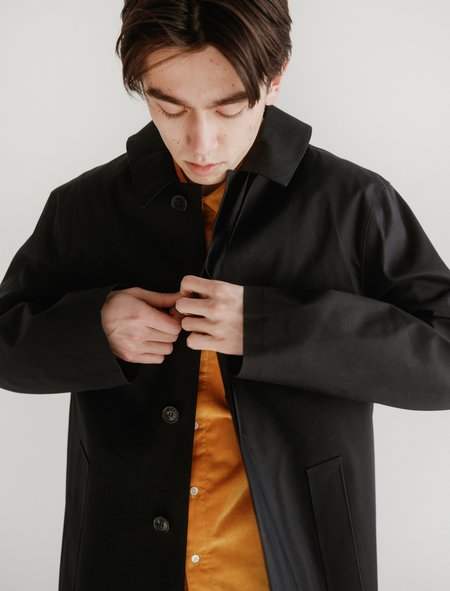 Mackintosh Bonded Cotton Mac - Black