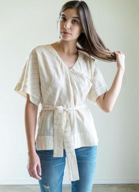Mirth Caftans Valais Top in Ivory