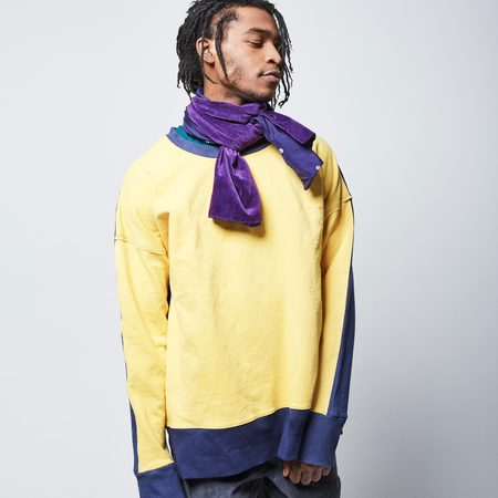 Post-Imperial Lagos Sweatshirt - Yellow/Indigo