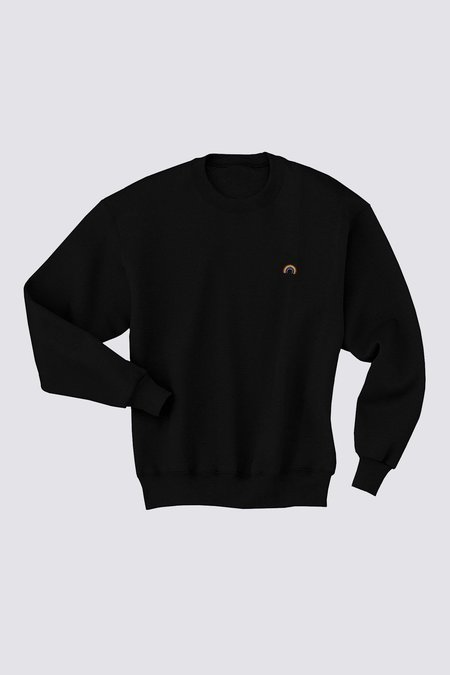 Assembly New York Cotton Colorwheel Crewneck - Black