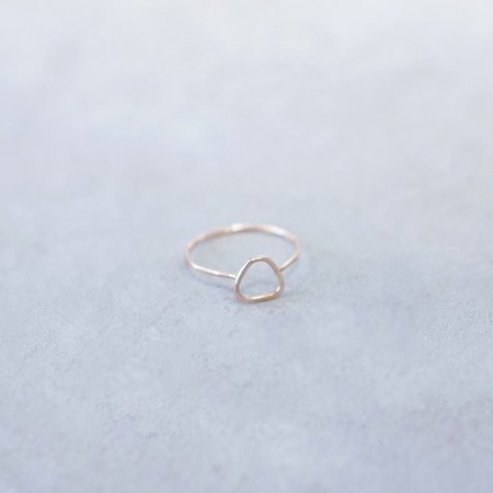 Melissa Joy Manning Triangle Pink Gold Ring