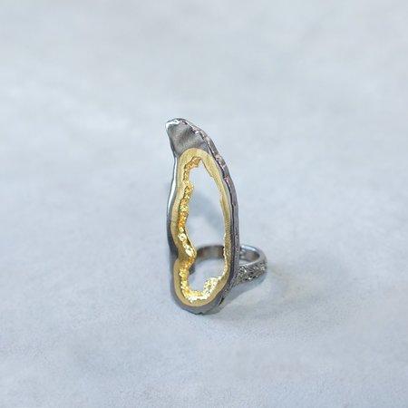 Pade Vavra Platinum and Gold Geode Ring