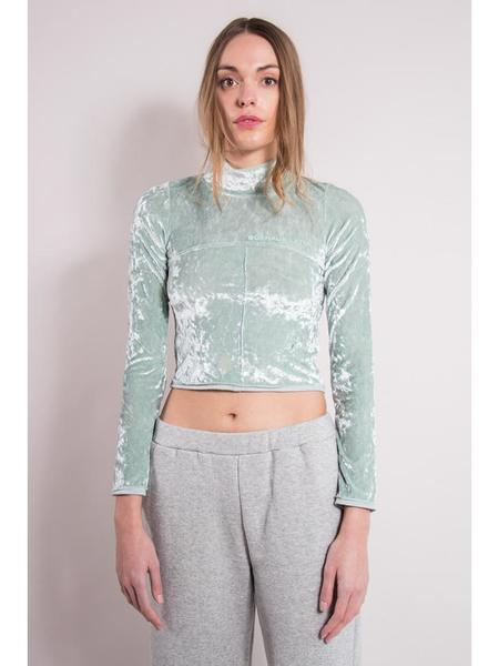 Eckhaus Latta Lapped Baby Turtleneck - Ice