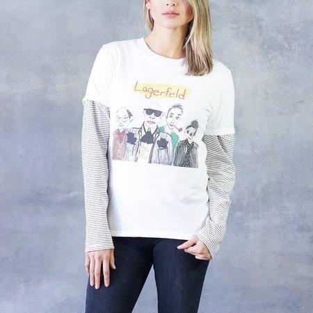 """Unfortunate Portrait Short Sleeve Cotton """"Lagerfeld"""" Graphic Tee"""