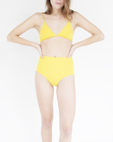 esby swim Linda High-waist Bottom - Curry