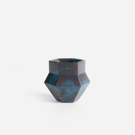 Concrete Cat Phiale Concrete Vessel - Oracle Blue, Grey + Red