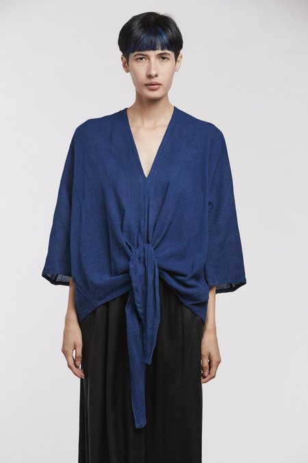 Miranda Bennett Kahlo Top, Cotton Gauze in Dark Indigo