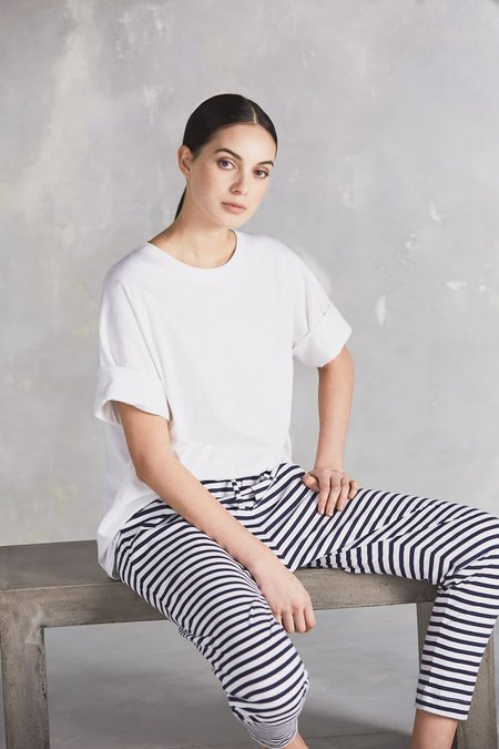 Kowtow Building Block Lounge Pant - Blue/White Stripe