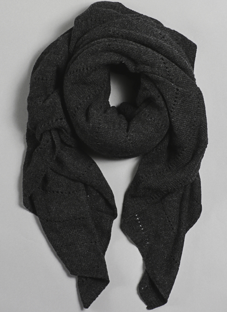 Unisex Grei Cashmere Oversized V-Knit Repeat Scarf In Charcoal