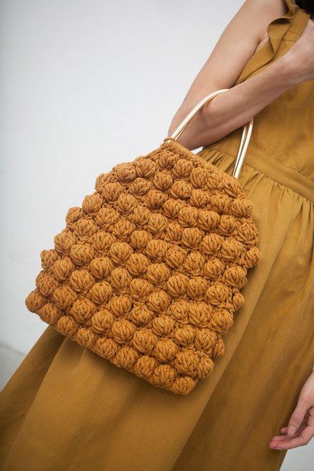 Ulla Johnson Hand Crochet Bobble Handbag in Ochre