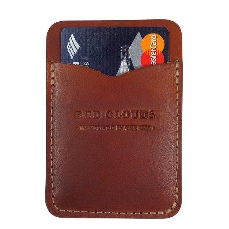 Red Clouds Frontside Vertical Wallet
