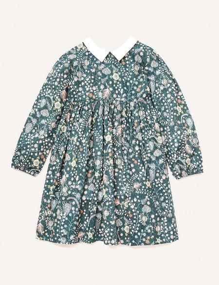 Kids Petits Vilains Clothier Clara Pointy Collar Dress - Alpine Floral