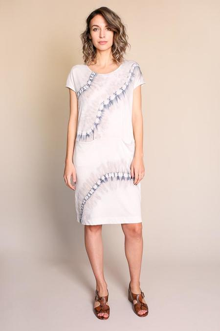 Raquel Allegra Pocket Shift Dress in Stone Tie Dye