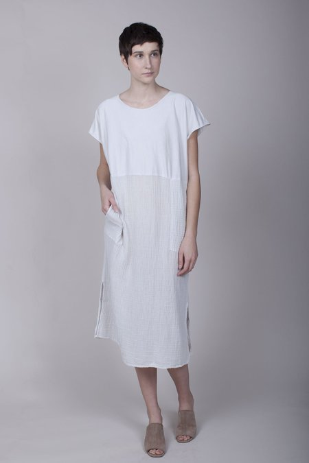 Raquel Allegra Shift Dress - Dirty White