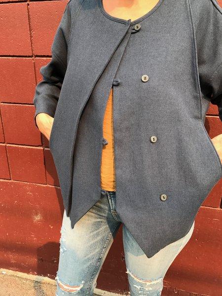 Black Crane Cotton Jacket - Midnight