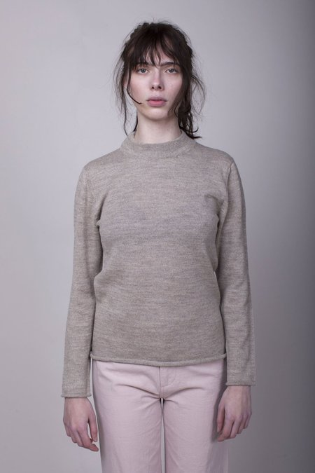 Han Starnes Plain Knit Sweater - Oatmeal