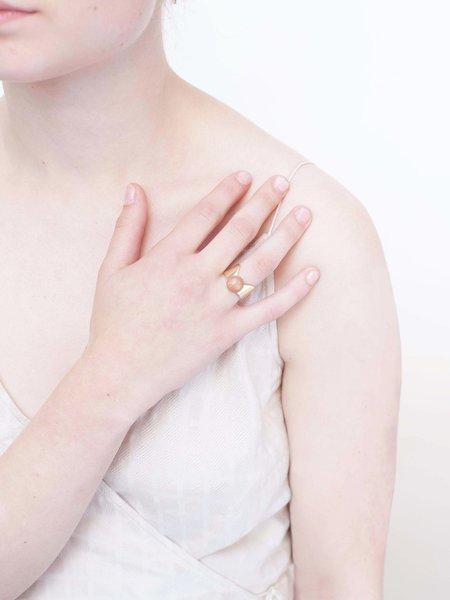 Sasai Sunstone Ring - Brass