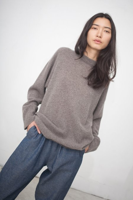 petria lenehan Long High Neck Sweater in Mushroom