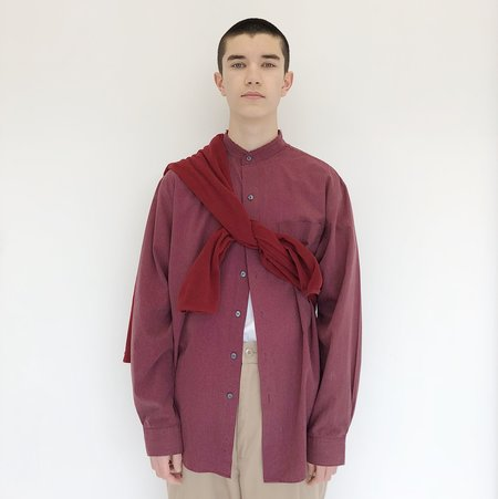 Johan Vintage Maroon Striped Button Down