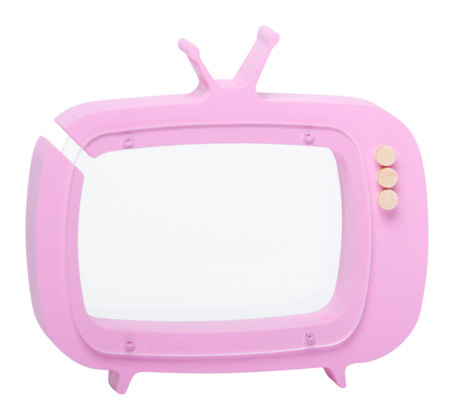 Kid's Up! Warsaw TV- Shaped Piggy Bank Pink