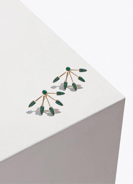 Pamela Love Fine 5 Spike Earrings